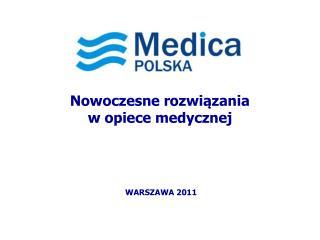 Nowoczesne rozwiązania   w opiece medycznej