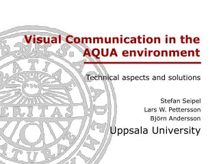 Visual Communication in the AQUA environment