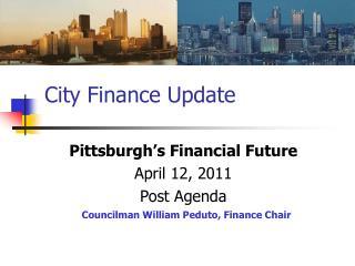 City Finance Update