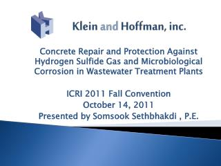 Klein  and  Hoffman,  inc.