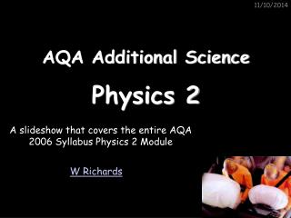 AQA Additional Science