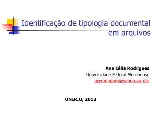 Identificação de tipologia documental em arquivos