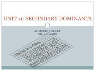 UNIT 11: SECONDARY DOMINANTS