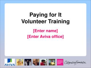Paying for It Volunteer Training