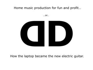 How the laptop became the new electric guitar.