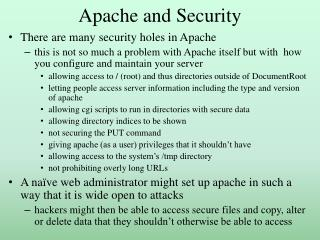 Apache and Security