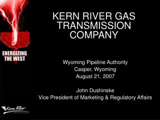 KERN RIVER GAS TRANSMISSION COMPANY
