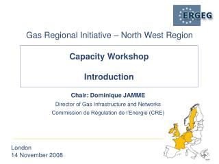 Chair: Dominique JAMME Director of Gas Infrastructure and Networks