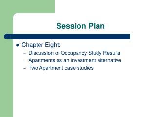 Session Plan