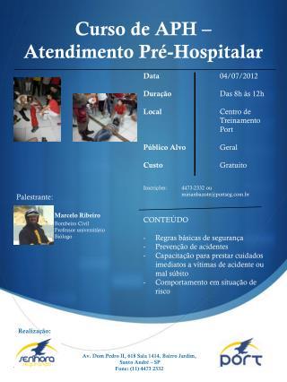 Curso  de APH –  Atendimento  Pré- Hospitalar