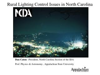Rural Lighting Control Issues in North Carolina