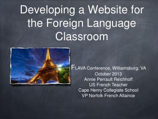 Developing a Website for the Foreign Language Classroom