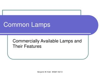 Common Lamps