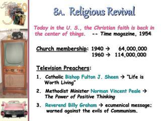8 A .  Religious Revival