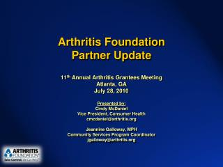 Arthritis Foundation Partner Update