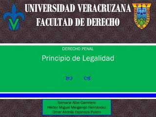 UNIVERSIDAD VERACRUZANA FACULTAD DE DERECHO