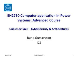 Rune  Gustavsson ICS