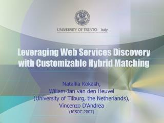 Leveraging Web Services Discovery with Customizable Hybrid Matching