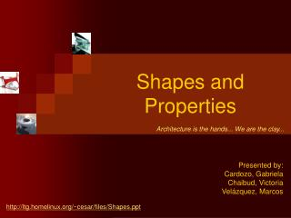 Shapes and Properties