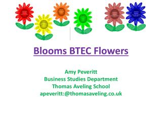 Blooms BTEC Flowers