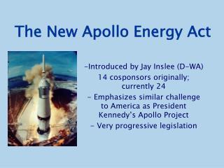The New Apollo Energy Act