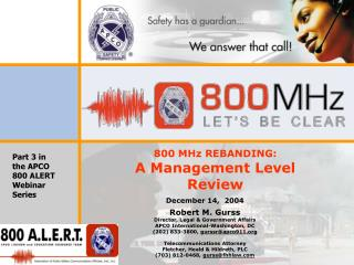 800 MHz REBANDING: A Management Level Review