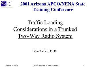 2001 Arizona APCO/NENA State Training Conference