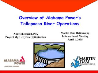 Overview of Alabama Power's  Tallapoosa River Operations