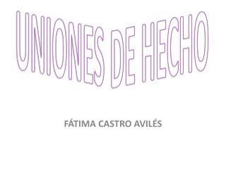 UNIONES DE HECHO