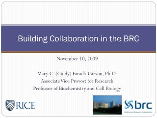 Building Collaboration in the BRC