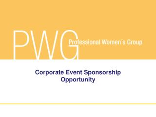 Corporate Event Sponsorship Opportunity