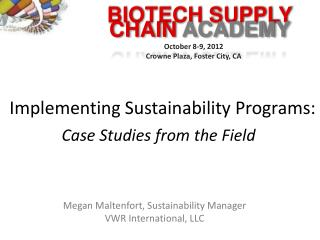 Implementing Sustainability Programs: