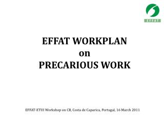 EFFAT WORKPLAN  on PRECARIOUS WORK