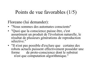 Points de vue favorables (1/5)