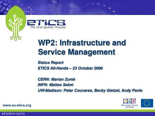 WP2: Infrastructure and Service Management