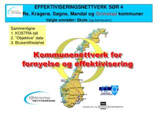 EFFEKTIVISERINGSNETTVERK SØR 4 Re, Kragerø, Søgne, Mandal og  Grimstad  kommuner