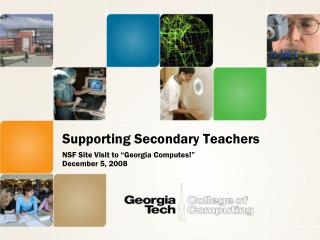 Supporting Secondary Teachers