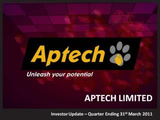 APTECH-LIMITED-Investor-Update-Q4FY2010-11(Final)