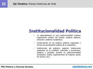 PSU Historia y Ciencias Sociales