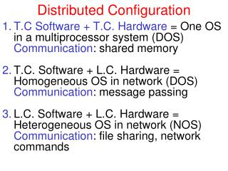 Distributed Configuration