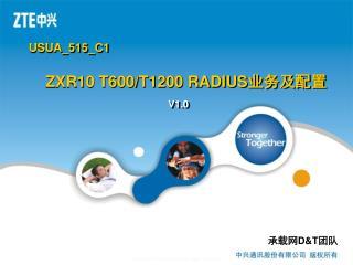 ZXR10 T600/T1200 RADIUS 业务及配置