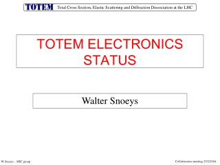 TOTEM ELECTRONICS STATUS