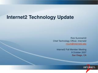 Internet2 Technology Update