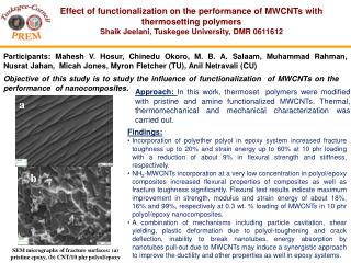 Effect of functionalization on the performance of MWCNTs with thermosetting polymers