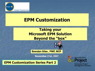 EPM Customization