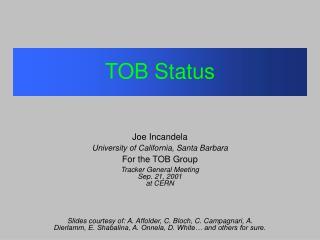 TOB Status