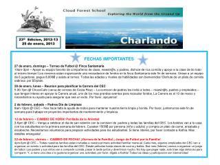 23 O   Edicion, 2012-13 25 de enero, 2013