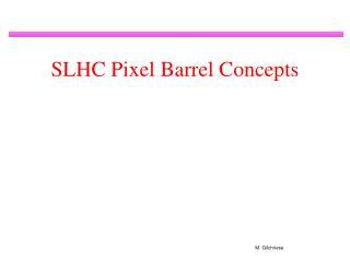 SLHC Pixel Barrel Concepts