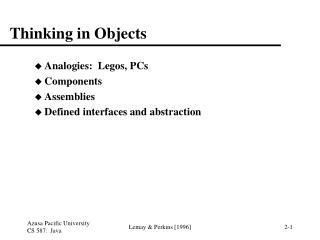Thinking in Objects