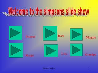 Welcome to the simpsons slide show
